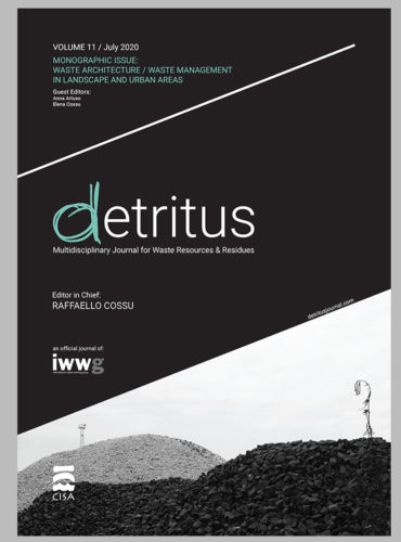 Detritus Journal – Monographic issue: WASTE MANAGEMENT IN LANDSCAPE AND URBAN AREAS