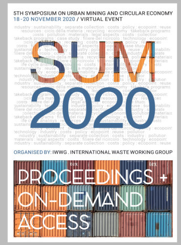 SUM2020 – 5th SYMPOSIUM ON URBAN MINING AND CIRCULAR ECONOMY / Proceedings + On-Demand access to all sessions